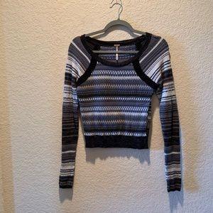 Free People lightweight multi color sweater, S